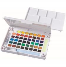 Caja plástico 48 pastillas acuarela Koi Sakura