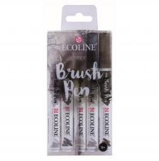 Estuche ecoline brush 5 Gris. Colores: 704-706-728-717-718