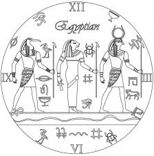 RELOJ Egyptian. 2 medidas disponibles Ø 38 y Ø 70 cm