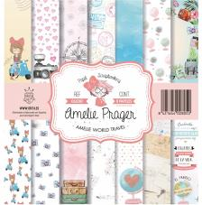 AMELIE WORLD TRAVEL Set 8 papeles