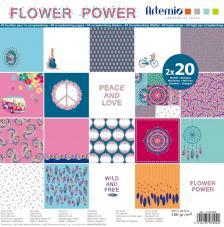 Bloc 40 papeles Flower Power