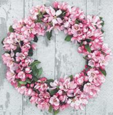 20 servilletas. Corona flores rosas
