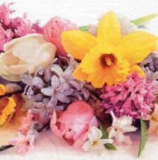 20 servilletas. Flor de primavera