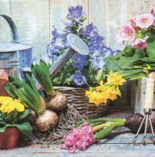 20 servilletas. Bodegon floral jardin