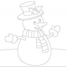 Muñeco de Nieve. 20x20 cm Precortado