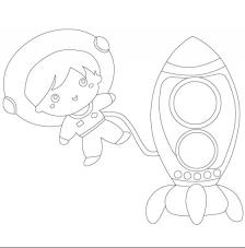 Astronauta 1. 20x20 cm Precortado