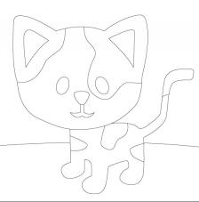 Gatito. 20x20 cm Precortado