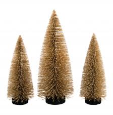 Kit 3 árboles decorativos. 15 y 20 cm de altura