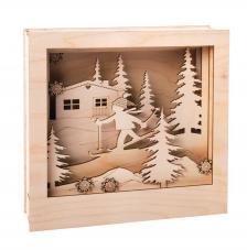 Marco 3D Paisaje Navidad 24x24x6,3cm