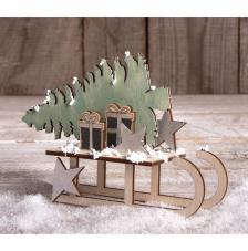Kit montage Trineo Navidad 11x5x16,5 cm