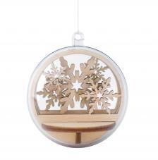 Kit montage bola de madera snowflakes Ø 5,5 cm