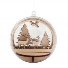 Kit montage bola de madera forest Ø 7,5 cm
