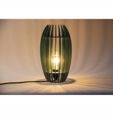 Lámpara madera 20x20x35 cm. 22 piezas
