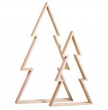 Kit 2 árboles madera 22X36 y 30X49 cm