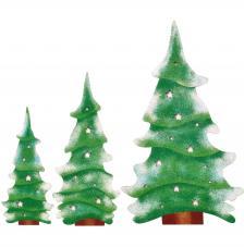 Set 3 árboles 45, 36 y 27,9 cm