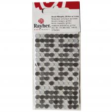 Mosaico poliresina grises gliter Ø 5mm.144 pzas