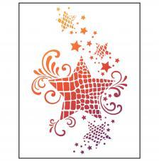 Stencil 21x29,7 cm. Estrella impresión animal