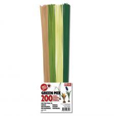 200 tiras quilling 3 mm - verdes y marrones