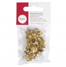 24 cascabeles campana oro 1,5x1 cm