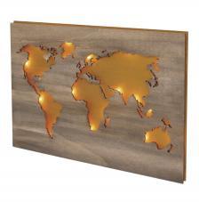 Mapamundi madera 42x29,7x0,4 cm