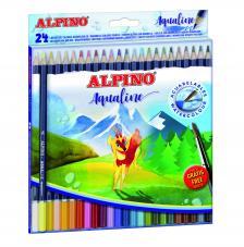 Caja 24 lapices de colores acuarelables Aqualine