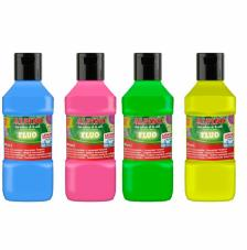 Estuche 4 témperas FLUO 250 ml Alpino
