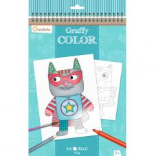 Cuaderno para colorear Graffy Color Doudous