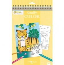 Cuaderno para colorear Graffy Color Mamá/Bébé