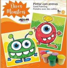 Kit Pintar con arenas Diver Monsters