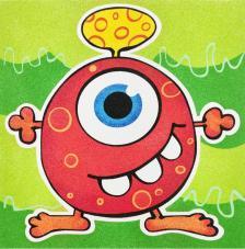 Lámina Monstruo Rojo. 3 medidas disponibles