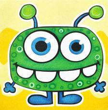 Lámina Monstruo Verde. 3 medidas disponibles