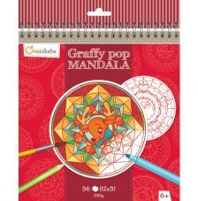 Cuaderno para colorear Graffy Pop Mandalas Navidad