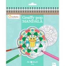 Cuaderno para colorear Graffy Pop Mandalas Animales