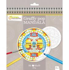 Cuaderno para colorear Graffy Pop Mandalas Street Art