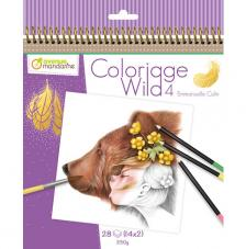 Cuaderno para Colorear Wild 4 20x20 cm Avenue Mandarine
