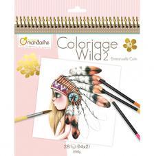 Cuaderno para Colorear Wild 2 20x20 cm Avenue Mandarine