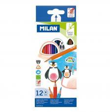 Caja con 12 lápices de colores triangulares