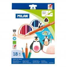 Caja 18 lápices de colores triangulares