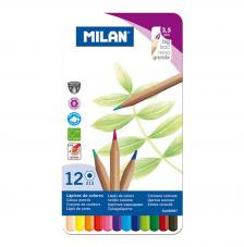 Caja metálica 12 lápices de colores mina gruesa