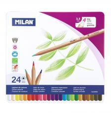 Caja metálica 24 lápices de colores mina gruesa