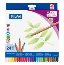 Caja 24 lápices de colores mina gruesa hexagonales