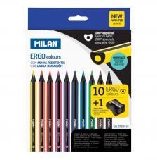 Caja 10 lápices ERGO colours + 1 afilalápices