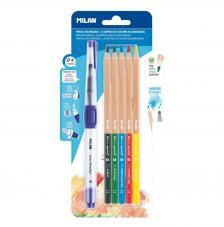Blister pincel recargable Water Brush + 5 lápices acuarelables