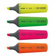 Bolsa con colgador 4 marcadores fluorescentes