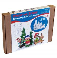 Pintar con arenas. Mama Noel Christmas 3D 40x35x12 cm