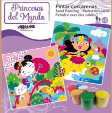 Pintar con arenas Princesas del Mundo