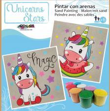 Pintar con arenas Unicornios Estrellas