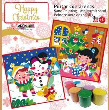 Pintar con arenas Happy Christmas