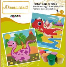Pintar con arenas Dinosaurios 2