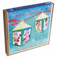Pintar con arenas- Lámpara Farol Navidad 12x12x22 cm